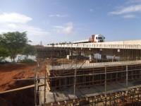 Obras da duplicação da ponte sobre a Barragem de Genésio